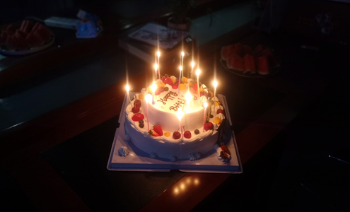 Today Is SHINY Big Family A Special Day Because Of Four Employees Our Companys Birthday So Early In The Morning Administrative Lanny